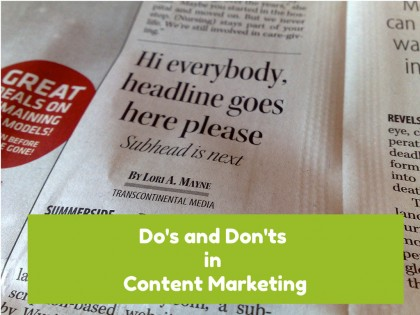 Dos and Don'ts in content marketing